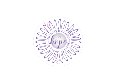 recovery circle purple